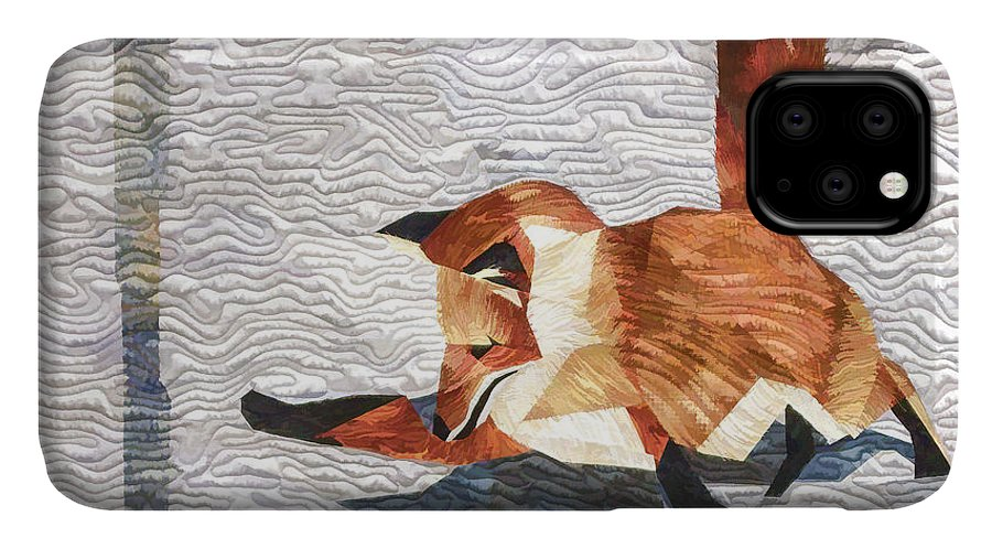 Fox IPhone Case featuring the digital art Fox And Mouse by Photographic Art by Russel Ray Photos