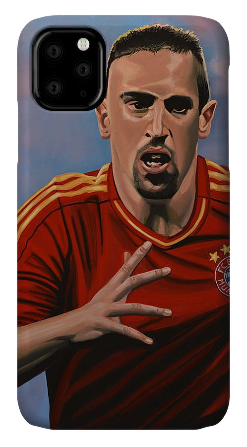 Franck Ribery IPhone 11 Case featuring the painting Franck Ribery by Paul Meijering