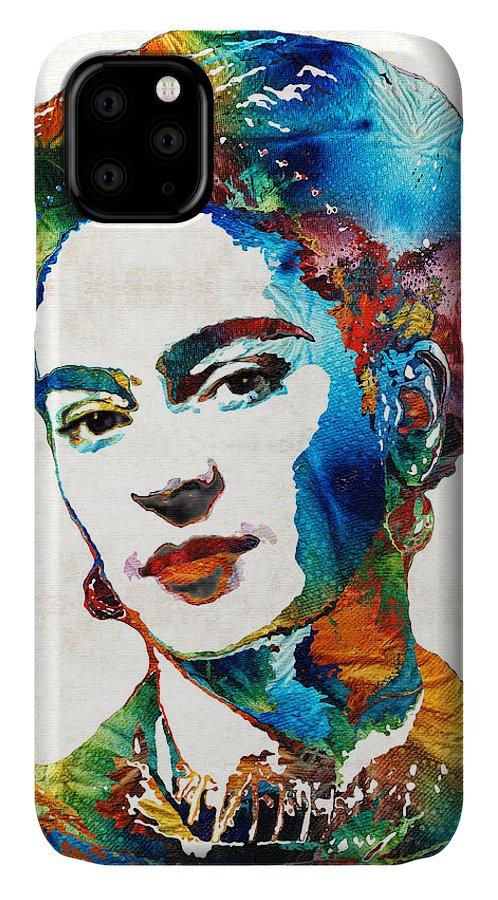 Frida Kahlo IPhone Case featuring the painting Frida Kahlo Art - Viva La Frida - By Sharon Cummings by Sharon Cummings