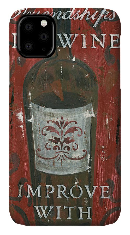 Wine IPhone Case featuring the painting Friendships Like Wine by Debbie DeWitt