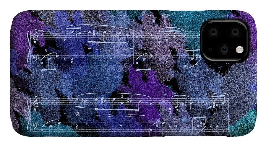 Modern IPhone Case featuring the painting Fur Elise Music Digital Painting by Georgeta Blanaru
