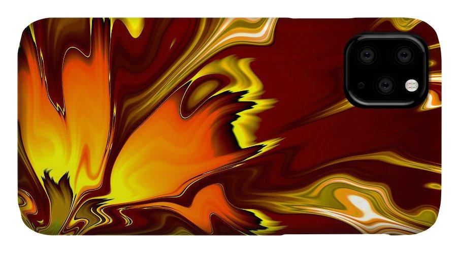 #art #print #fractal #furnace #happijar IPhone 11 Case featuring the digital art Furnace by Vix Edwards