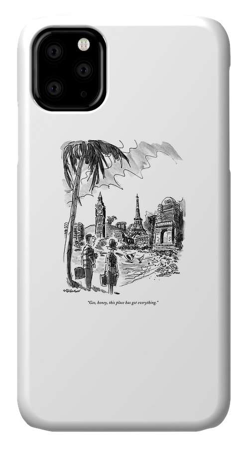 Leisure IPhone Case featuring the drawing Gee, Honey, This Place Has Got Everything by James Stevenson