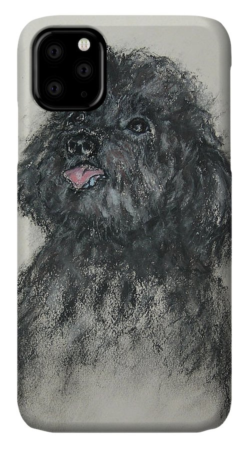 Poodle IPhone Case featuring the drawing Gigi by Cori Solomon