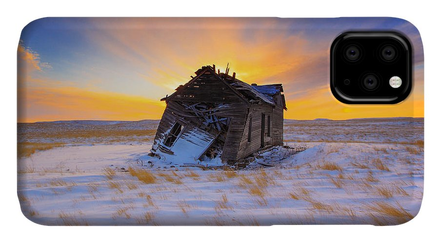 Old IPhone Case featuring the photograph Glowing Winter by Kadek Susanto