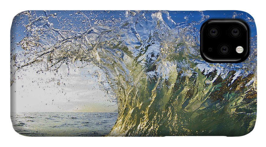 Crashing Wave IPhone Case featuring the photograph Gold Crown by Sean Davey