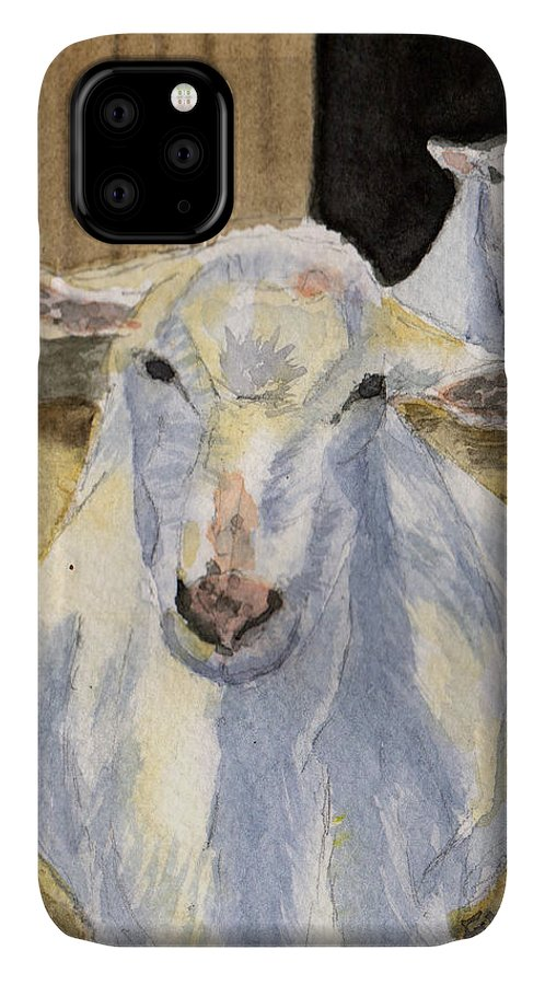 Goat IPhone Case featuring the painting Good Morning by Sharon E Allen