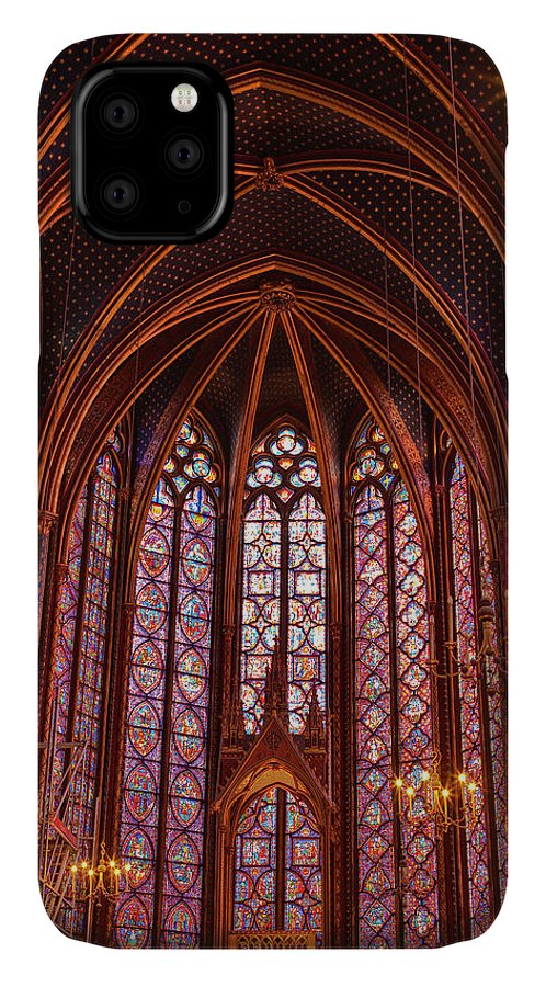 Gothic Style IPhone Case featuring the photograph Gothic Architecture Inside Sainte by Julian Elliott Photography