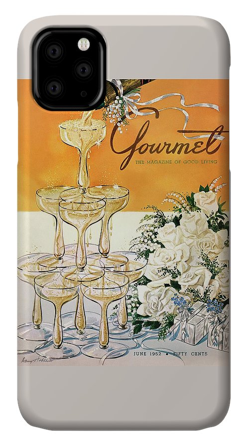 Gourmet Cover Featuring A Pyramid Of Champagne IPhone Case