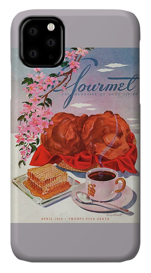 Food IPhone Case featuring the photograph Gourmet Cover Illustration Of A Basket Of Popovers by Henry Stahlhut