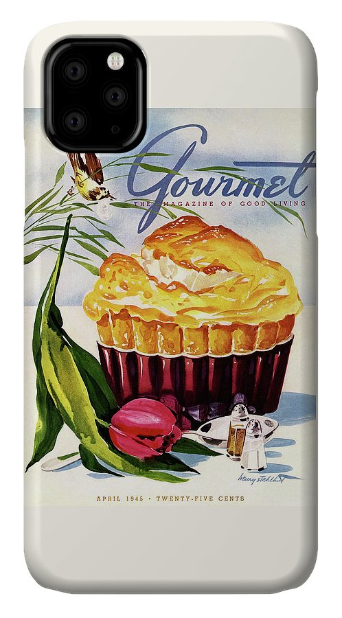 Illustration IPhone Case featuring the photograph Gourmet Cover Illustration Of A Souffle And Tulip by Henry Stahlhut