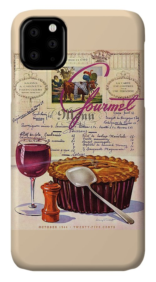 Food IPhone Case featuring the photograph Gourmet Cover Illustration Of Deep Dish Pie by Henry Stahlhut
