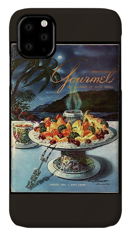 Food IPhone Case featuring the photograph Gourmet Cover Illustration Of Fruit Dish by Henry Stahlhut
