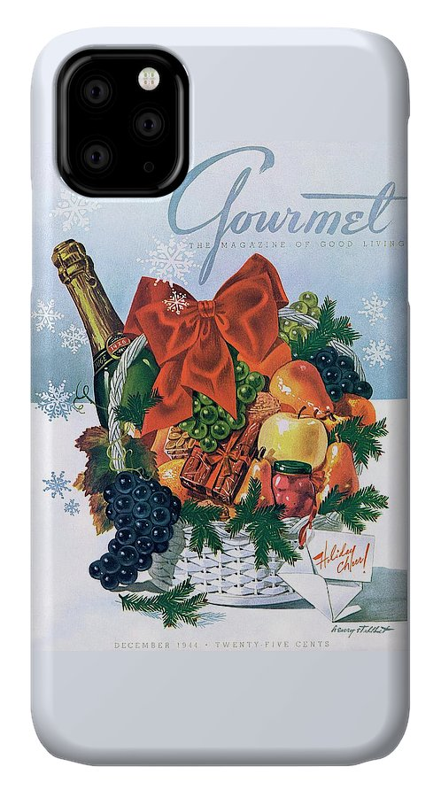 Food IPhone Case featuring the photograph Gourmet Cover Illustration Of Holiday Fruit Basket by Henry Stahlhut