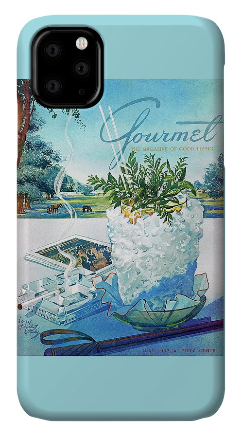 Food IPhone Case featuring the photograph Gourmet Cover Illustration Of Mint Julep Packed by Henry Stahlhut