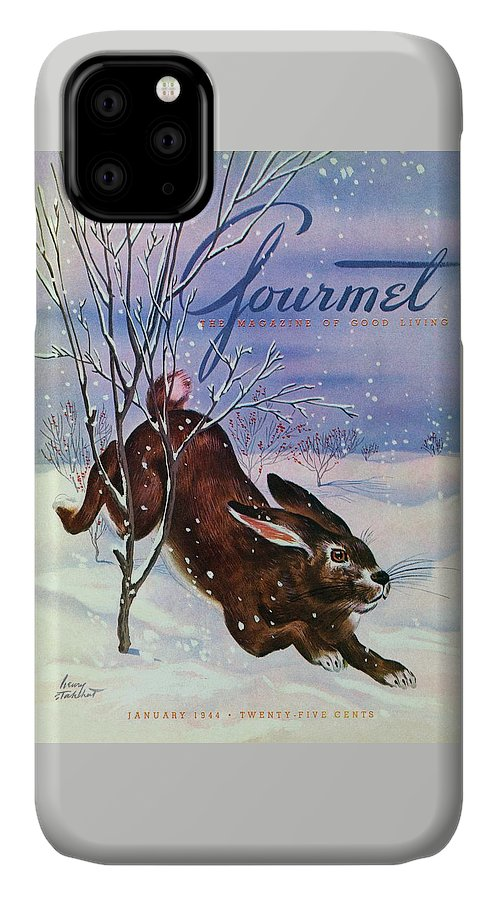 Gourmet Cover Of A Rabbit On Snow IPhone Case
