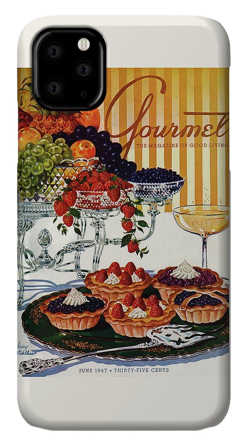 Food IPhone Case featuring the photograph Gourmet Cover Of Fruit Tarts by Henry Stahlhut