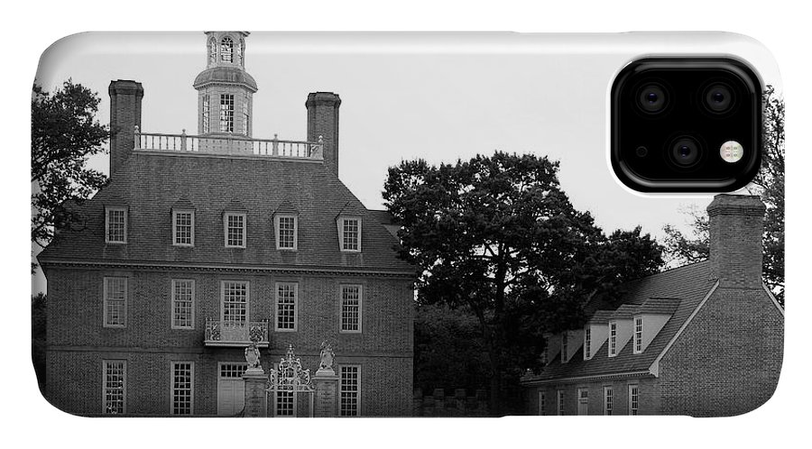 Governers Palace IPhone 11 Case featuring the photograph Governers Palace Colonial Williamsburg by Christiane Schulze Art And Photography