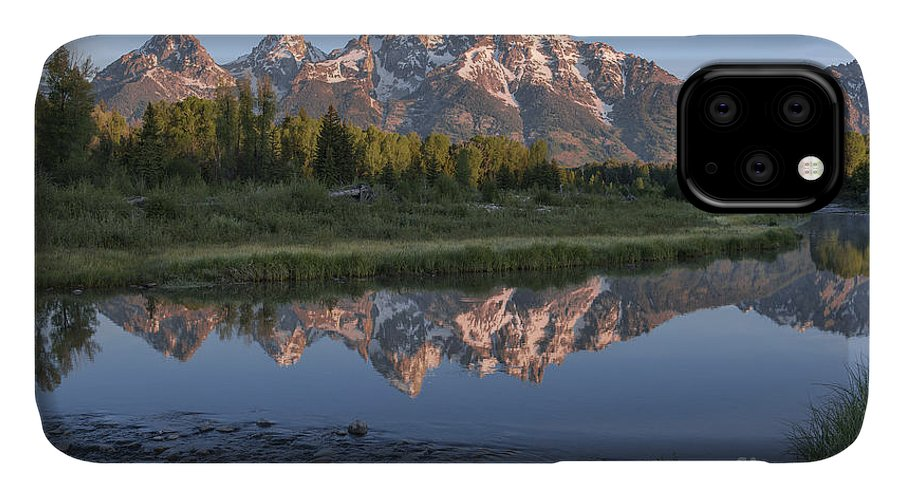 Grand Teton IPhone 11 Case featuring the photograph Grand Teton Awakening by Sandra Bronstein
