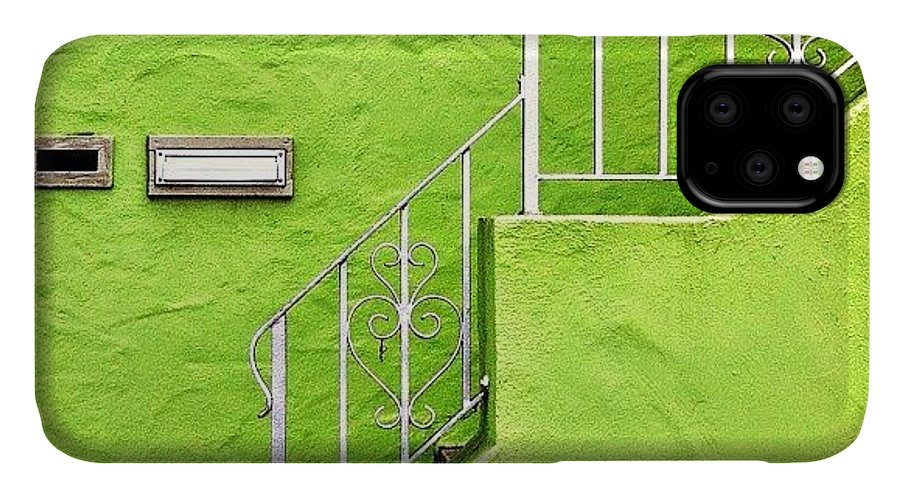 Green IPhone Case featuring the photograph Green House by Julie Gebhardt