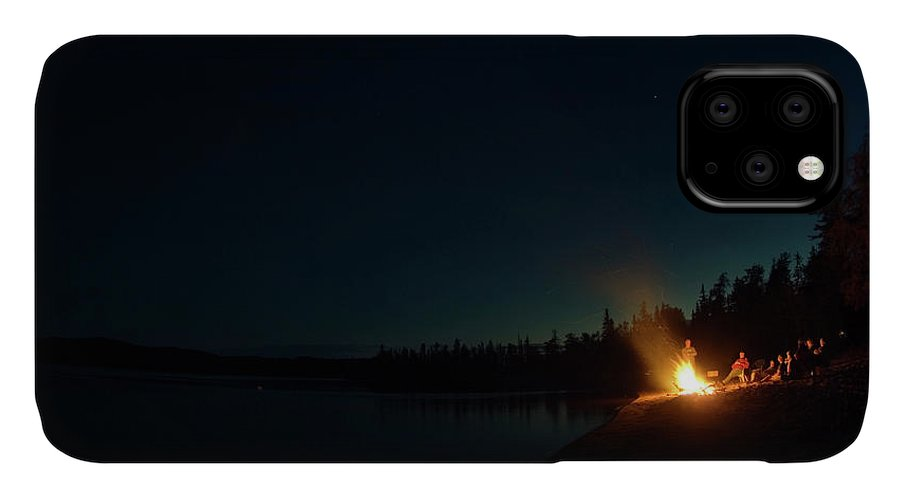 Calm IPhone Case featuring the photograph Group Of Friends Sharing A Campfire by Joel Sheagren