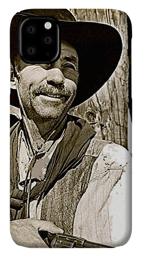 Hank Worden Publicity Photo Red River John Wayne Stagecoach Cahill IPhone Case featuring the photograph Hank Worden Publicity Photo Red River 1948-2013 by David Lee Guss