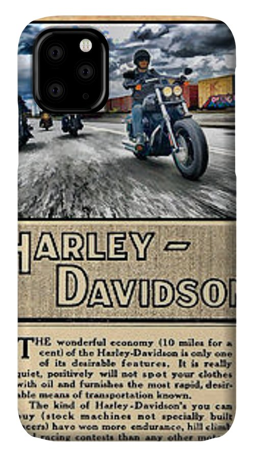 This Is Photographic Art Based On Five Pictures Of Harley-davidson Items With A Map Of Austin IPhone Case featuring the digital art Harley-davidson Montage With Austin Map by Photographic Art by Russel Ray Photos