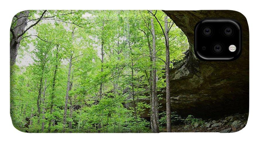 Schermerhorn Trail IPhone Case featuring the photograph Hideout Hollow 3 by Laureen Murtha Menzl