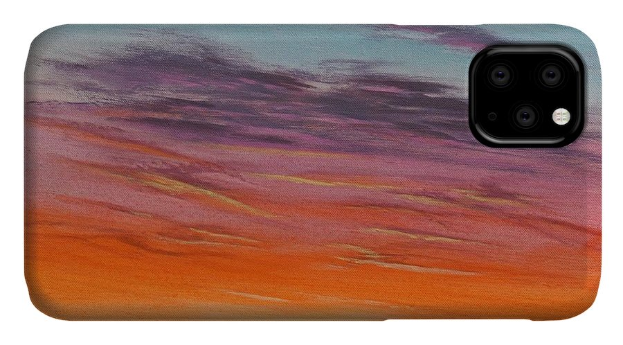 High Plains IPhone Case featuring the painting High Plains Sunset by J W Kelly