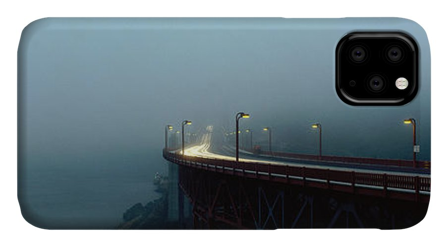 Photography IPhone Case featuring the photograph Highway In Fog, San Francisco by Panoramic Images