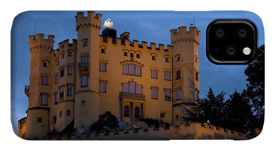 Architecture IPhone Case featuring the photograph Hohenschwangau Castle Night by Richard Patrick