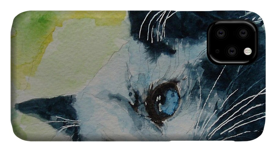 Kittens IPhone Case featuring the painting Hold me closer tiny dancer by Paul Lovering