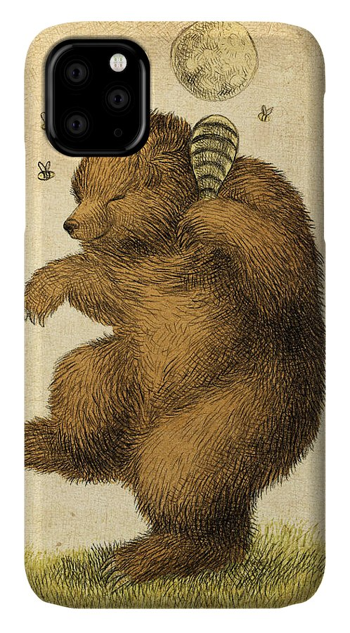 Bear IPhone Case featuring the drawing Honey Bear by Eric Fan