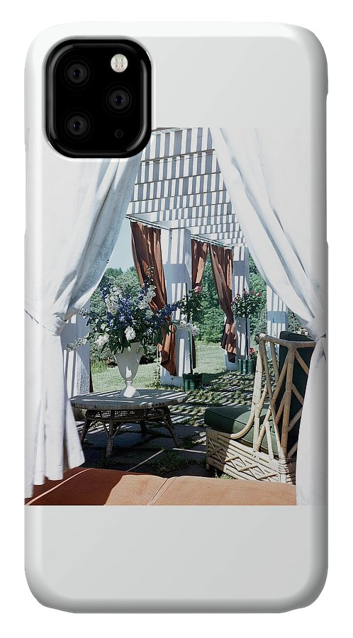 Exterior IPhone Case featuring the photograph Horst's Patio In Long Island by Horst P. Horst