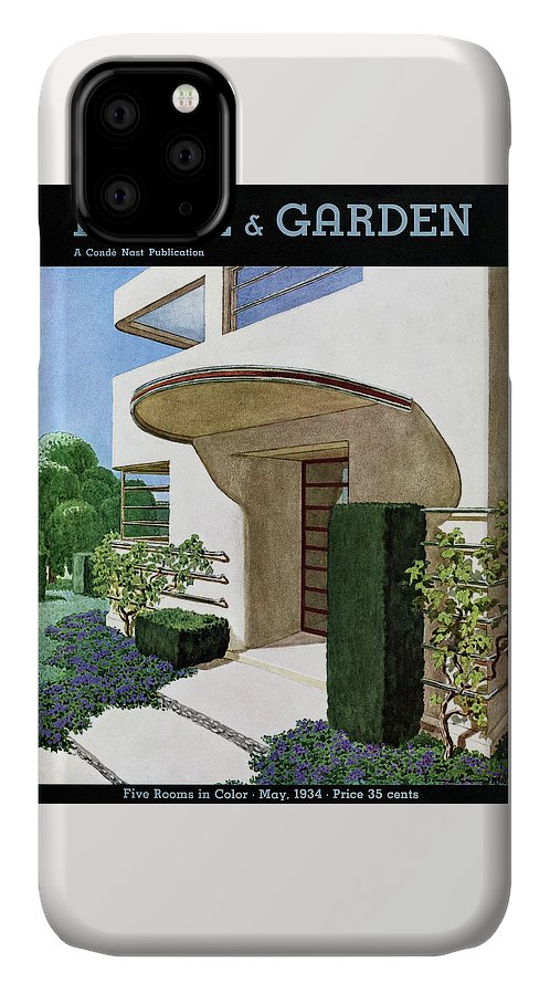 House & Garden IPhone Case featuring the photograph House & Garden Cover Illustration Of A Modern by Pierre Brissaud
