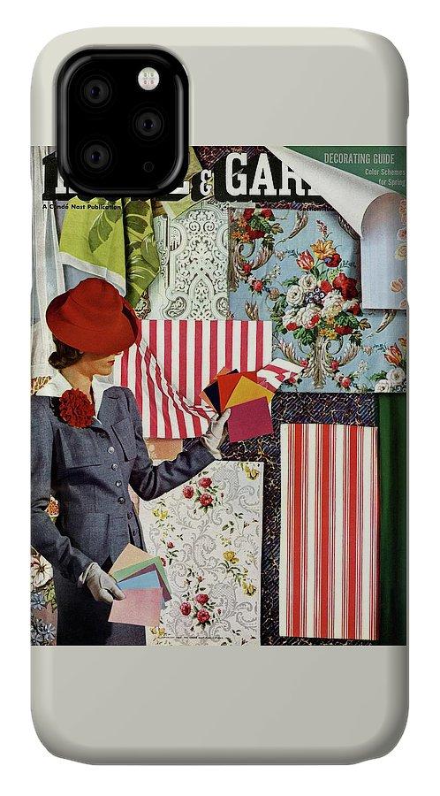 House & Garden IPhone Case featuring the photograph House & Garden Cover Illustration Of A Woman by Joseph B. Platt