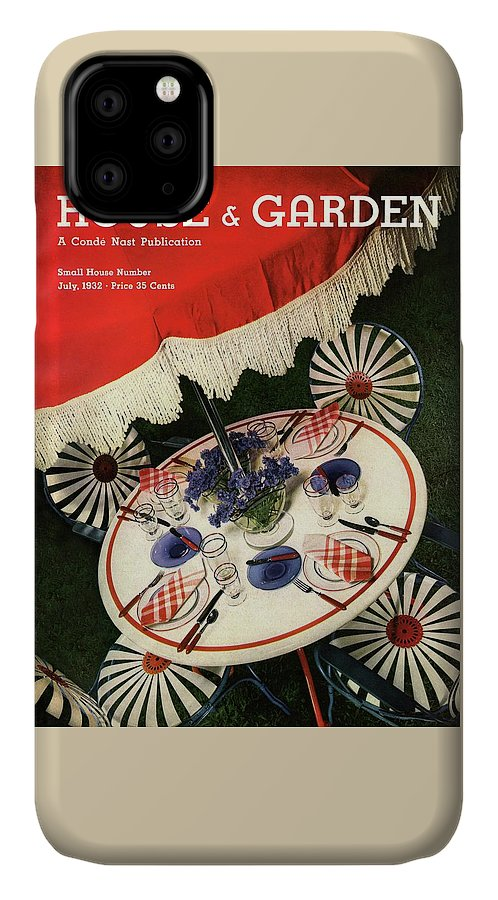 House And Garden IPhone Case featuring the photograph House And Garden Cover Featuring An Outdoor Table by Anton Bruehl