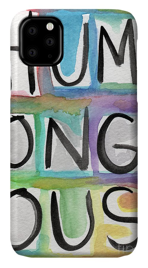 Word Art IPhone Case featuring the painting Humongous Word Painting by Linda Woods