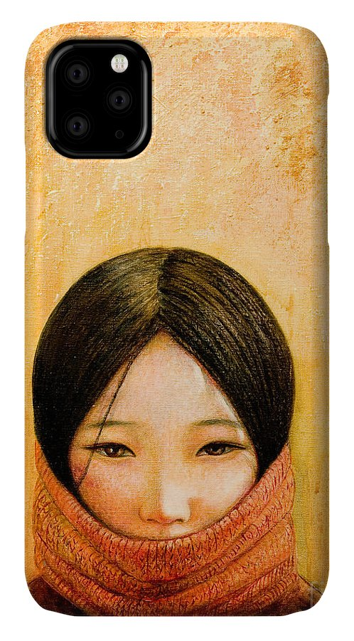 Tibet IPhone Case featuring the painting Image of Tibet by Shijun Munns