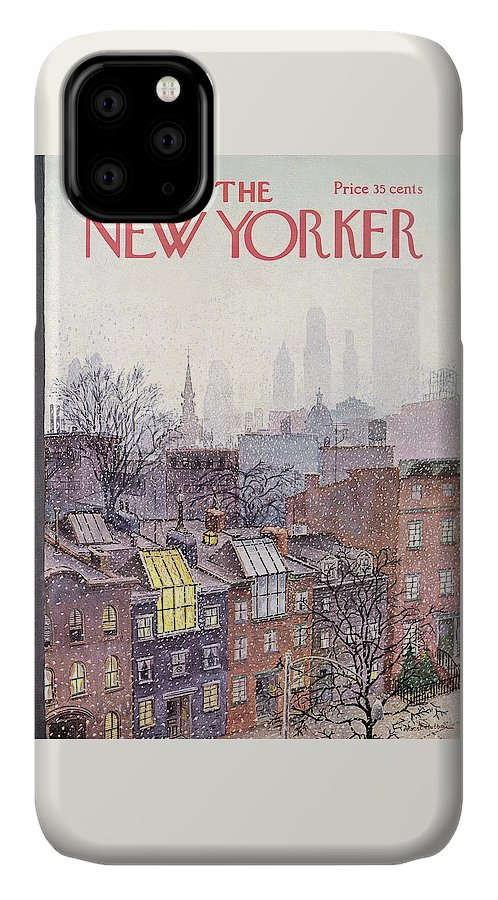 Albert Hubbell Ahu IPhone Case featuring the painting New Yorker March 2, 1968 by Albert Hubbell