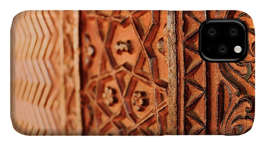 Texture IPhone 11 Case featuring the photograph Indian Architecture by Swati Kandhari