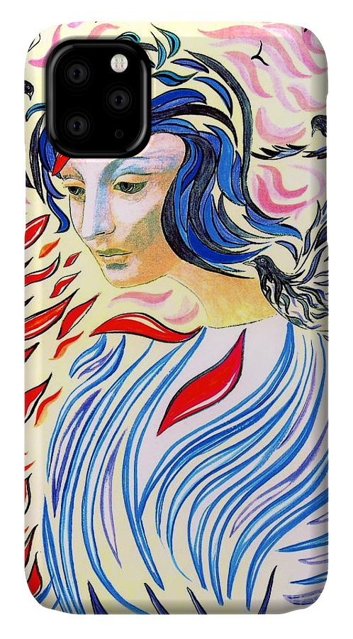 Love IPhone 11 Case featuring the painting Inner Peace by Jane Small