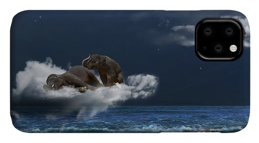 Elephant IPhone Case featuring the photograph Insomnia by Martine Roch