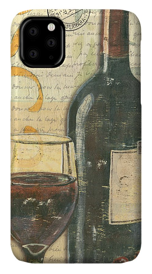 Wine IPhone Case featuring the painting Italian Wine and Grapes by Debbie DeWitt