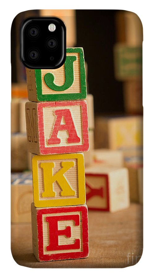Abcs IPhone 11 Case featuring the photograph Jake - Alphabet Blocks by Edward Fielding