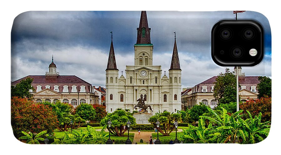 Cathedral IPhone Case featuring the photograph Jackson Square New Orleans by Jarrod Erbe