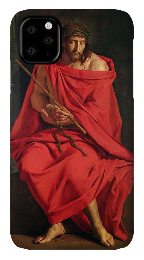 Male IPhone Case featuring the photograph Jesus Mocked Oil On Canvas by Philippe de Champaigne