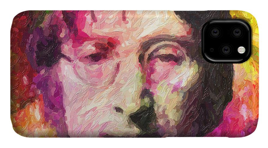 John Lennon IPhone Case featuring the painting John Lennon by Zapista OU