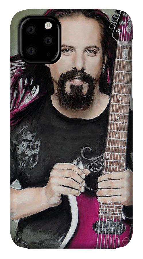 John Petrucci IPhone Case featuring the mixed media John Petrucci by Melanie D