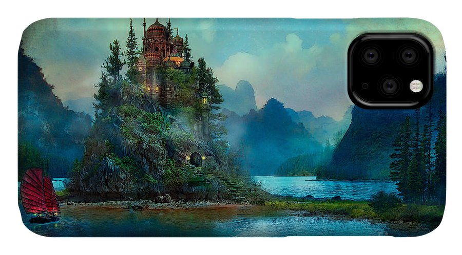 Aimee Stewart IPhone Case featuring the digital art Journeys End by MGL Meiklejohn Graphics Licensing